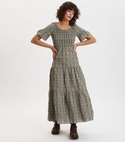 Odd Molly - Powerful Cotton Dress - DRIED FOREST
