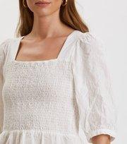 Odd Molly - Powerful Cotton Top - LIGHT CHALK