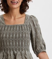 Odd Molly  - Powerful Cotton Top - DRIED FOREST