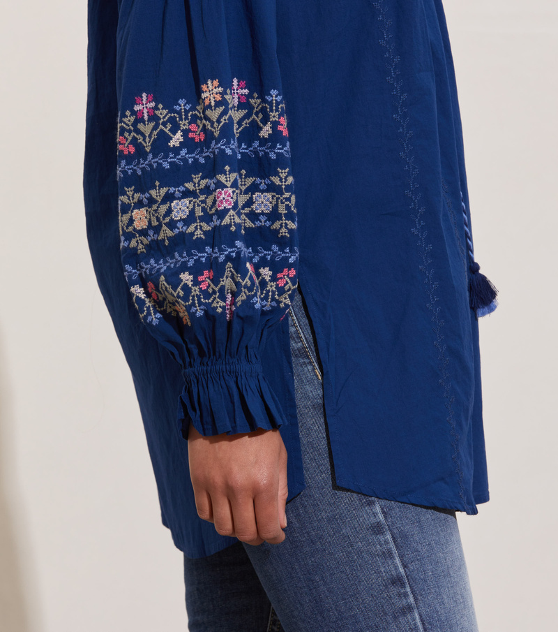 All Is Love Embroidered Tunic