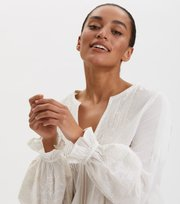 Odd Molly - All Is Love Embroidered Tunic - LIGHT CHALK