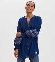 Odd Molly  - All Is Love Embroidered Tunic - DEEP NAVY
