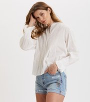 Odd Molly - All Is Love Embroidered Blouse - LIGHT CHALK