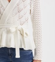Odd Molly - Every Hour Frill Cardigan - LIGHT CHALK