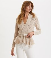 Odd Molly - Every Hour Frill Cardigan - PORCELAIN