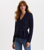 Odd Molly  - Every Hour Frill Cardigan - NIGHT SKY BLUE