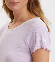 Odd Molly - Rib Jersey Tee - PRETTY PURPLE