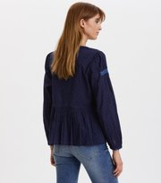 Odd Molly - Populär blus med smock - NIGHT SKY BLUE