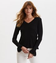 Odd Molly - My Dearest One Top - ALMOST BLACK SOLID