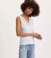 Odd Molly - Rib-Eye Tank - BRIGHT WHITE