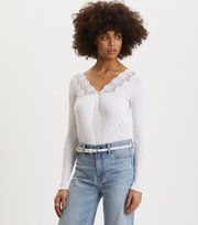 Odd Molly - Rib-Eye Top - BRIGHT WHITE