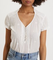 Odd Molly - On Point Blouse - LIGHT CHALK