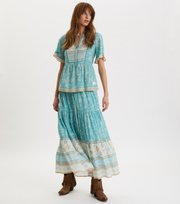 Odd Molly - Bohemic Skirt - MOROCCAN TURQUOISE
