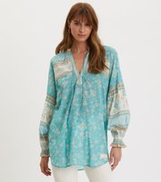Odd Molly - Bohemic blouse - MOROCCAN TURQUOISE