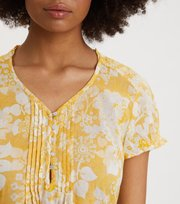 Odd Molly - Perfect Print Short Dress - VINTAGE-KELTAINEN