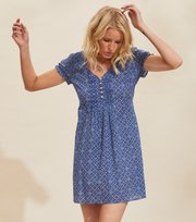 Odd Molly - Perfect Print Short Dress - VIVID BLUE