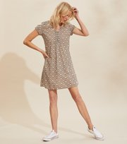 Odd Molly - Perfect Print Short Dress - ASPHALT