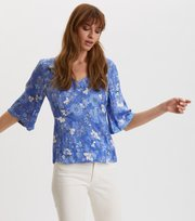 Odd Molly - Pretty Printed Blouse - VIVID BLUE