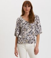 Odd Molly - Pretty Printed Blouse - ASPHALT