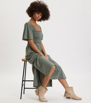 Odd Molly - Peppy Dress - CARGO GREEN