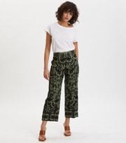 Odd Molly - Hearty Cropped Trousers - DEEP ASPHALT