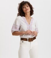 Odd Molly - Dynamic Blouse - LIGHT CHALK