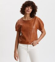 Odd Molly - The One Leather T-Shirt - DRIED SUNFLOWER