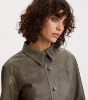 Odd Molly - Heavenly Leather Shirt - FADED CARGO
