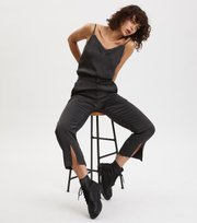 Odd Molly - Superiour Cropped Trousers - DEEP ASPHALT