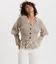 Odd Molly - Nordic Love Knitted Cardigan - PEBBLE GREY