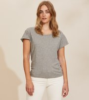 Odd Molly - Dooer T-shirt - LIGHT GREY MELANGE
