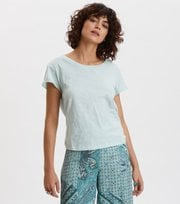 Odd Molly - Dooer T-shirt - FADED TURQUOISE
