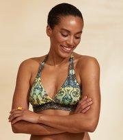 Odd Molly  - Artsy Halterneck Bikini Top - WILD GREEN