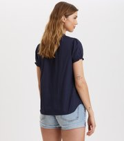 Odd Molly - Sleeves Up S/S Blouse - DARK BLUE