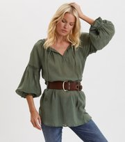 Odd Molly - Way To Go Tunic - CARGO GREEN