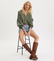 Odd Molly - Way To Go Blouse - CARGO GREEN