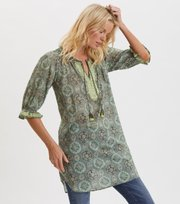 Odd Molly - Wow Woven Tunic - CARGO GREEN
