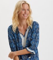 Odd Molly - Wow Woven Tunic - STORMY BLUE