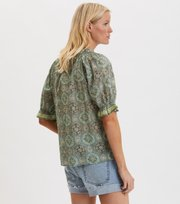 Odd Molly - Wow Woven Bluse - CARGO GREEN