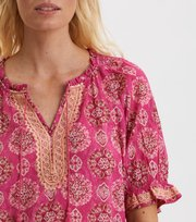 Odd Molly - Wow Woven Blouse - BRILLIANT CERISE