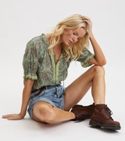 Odd Molly - Wow Woven Blouse - CARGO GREEN