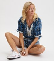Odd Molly - Wow Woven Blouse - STORMY BLUE