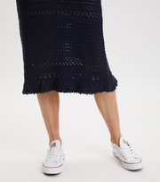 Odd Molly - Illuminating Frill Skirt - DEEP NAVY
