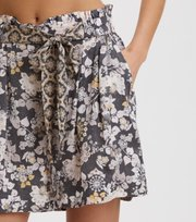 Odd Molly - Pretty Printed Shorts - ASPHALT