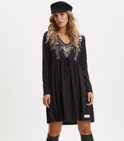 Odd Molly - Flower Fantasia Dress - ALMOST BLACK