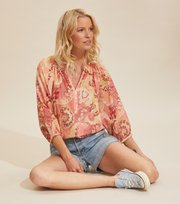 Odd Molly - Positano Blouse - SPICED CORAL