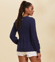Odd Molly - Stay Grounded Pullover mit V-Ausschnitt - STORMY BLUE
