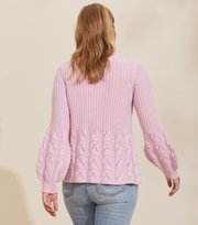 Odd Molly - Stay Grounded V/Neck Sweater - PINK WHISPER