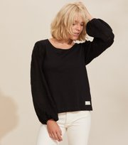 Odd Molly  - Swagy Long Sleeve Top - ALMOST BLACK