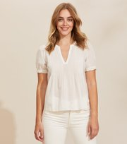Odd Molly - Soul Of Sunshine Blouse - LIGHT CHALK